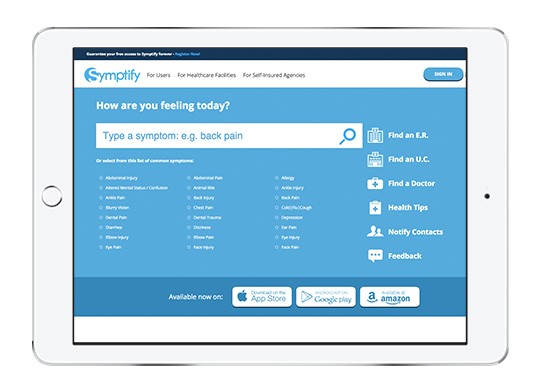 Symptify website